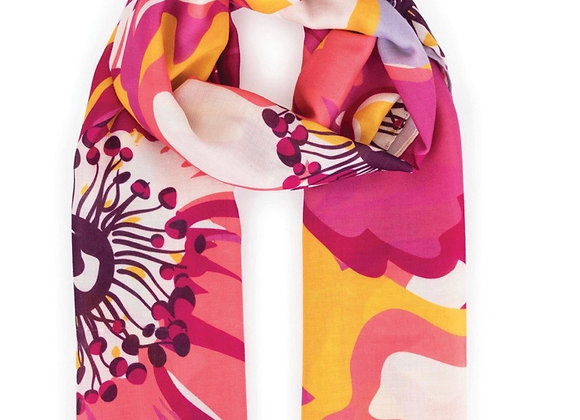 Powder Scarf Poppy Print
