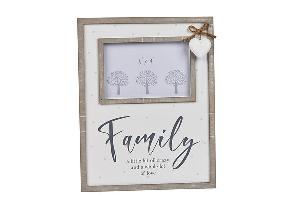 Family Frame With Heart