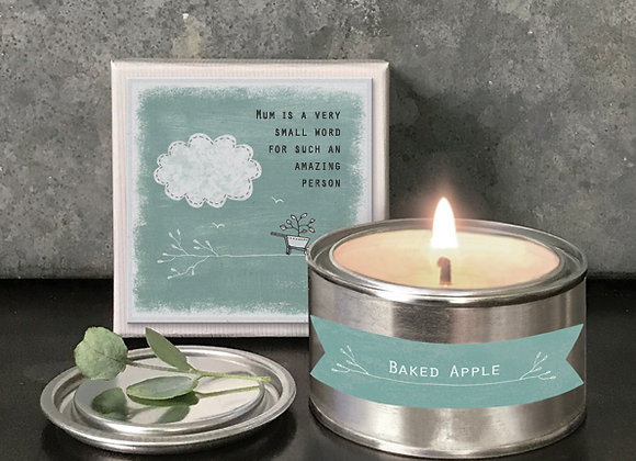 East Of India Boxed Candle Mum Is A Very Small Word