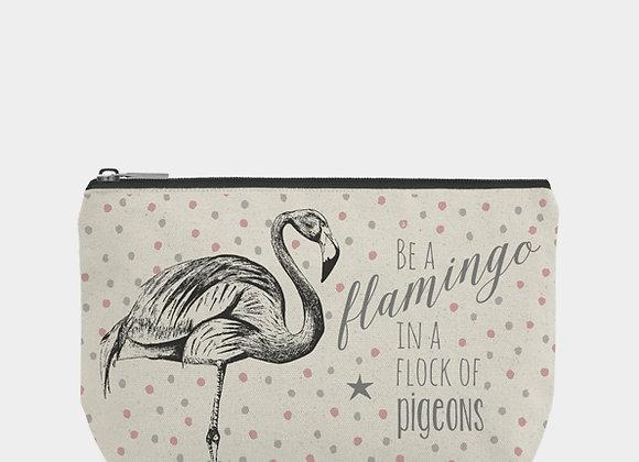 East Of India Be A Flamingo Make up Bag