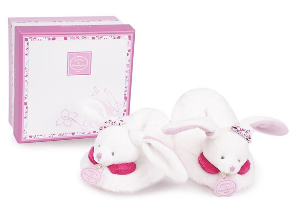 Pink Plush Baby Slippers