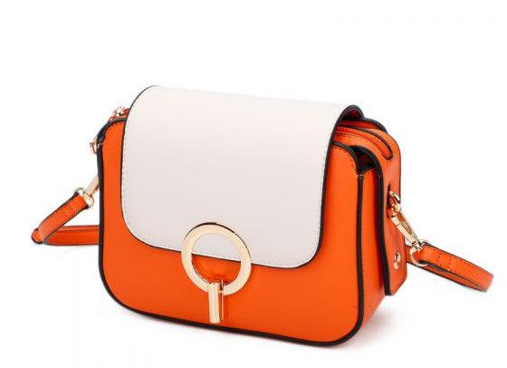 Flap Over Contrast Messenger Bag