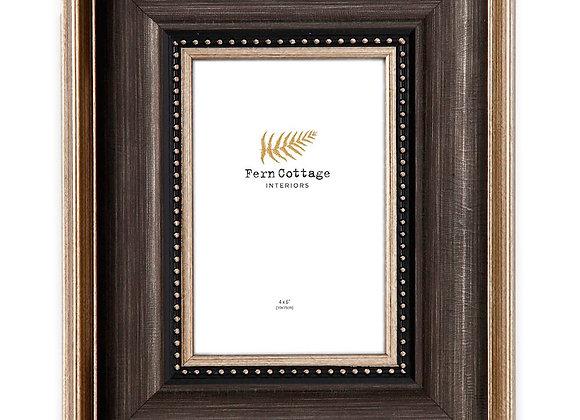 Black And Gold Brushed Frame 4x6