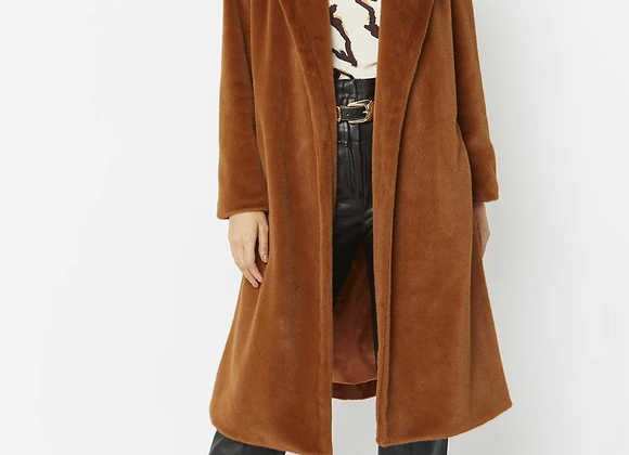 Tan Faux Fur Coat