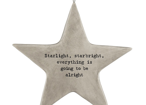 East Of India Starlight, Starbright  Rustic Hanging Star