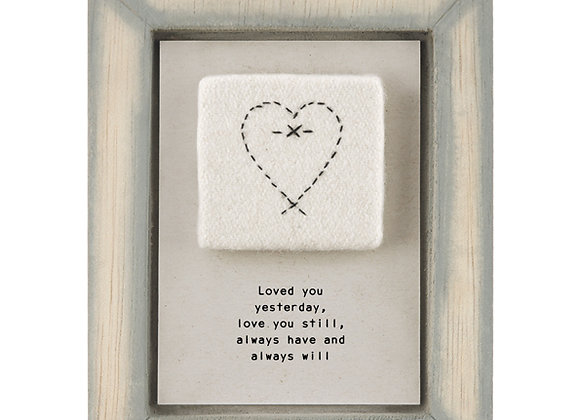 East Of India Embroidered Pic Loved You Yesterday