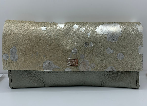 Large Owen Barry Vermont Purse Silver Acido