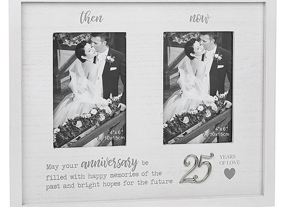 Then and Now 25th Anniversary Frame