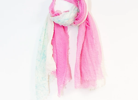 Summery Two Tone Scarf Pink And Blue