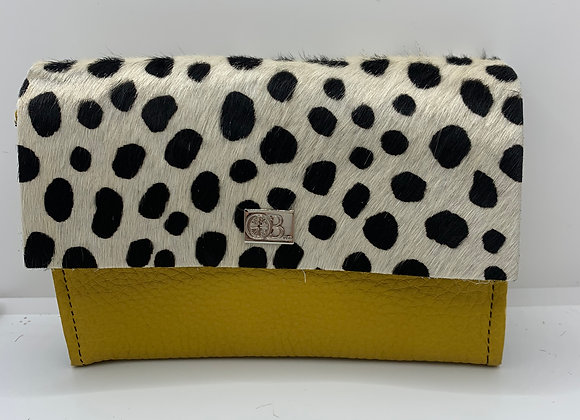 Small Owen Barry Vermont Purse Yellow And Dalmation