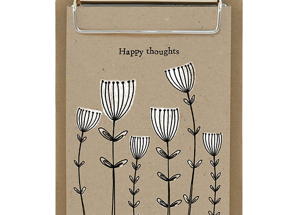 East Of India Small Clipboard Happy Thoughts