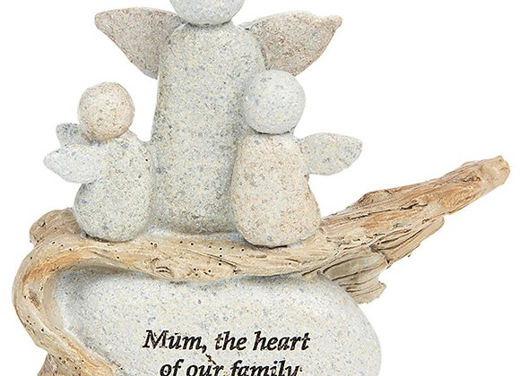 Mum The Heart Of The Family Angel Stone