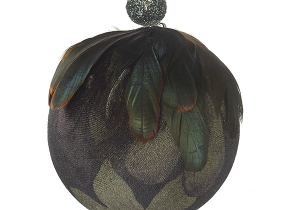 Large Dark Feather Bauble