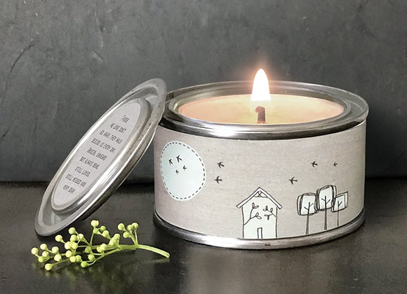 East Of India Those We Love Don't Go Away Tin Candle