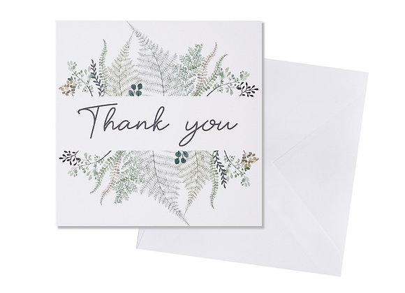 Leaf Thank You Card