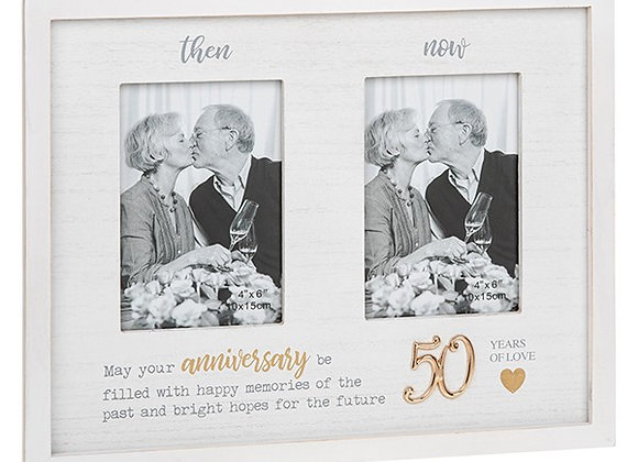 Then and Now 50th Anniversary Frame