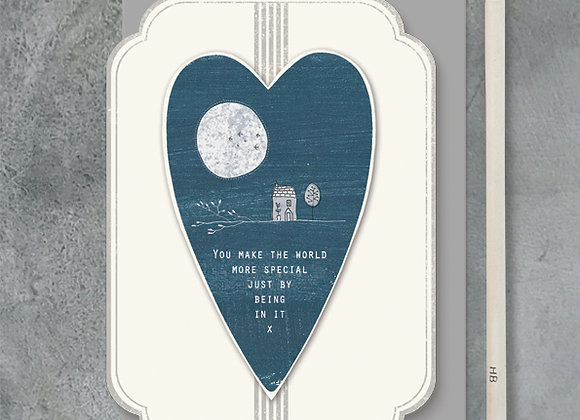 East Of India Heart You Make The World Special Card