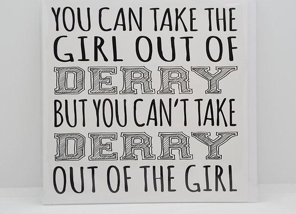 Derry Girl Greetings Card