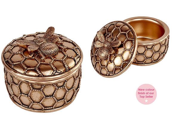 Bronze Bee Trinket Box