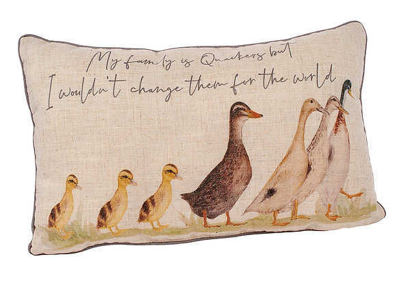 My Family Is Quackers Cushion