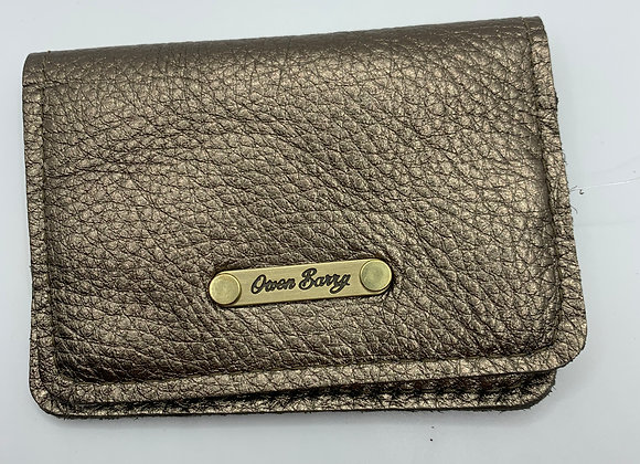Card Wallet Owen Barry Gold And Cream