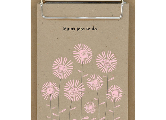 East Of India Small Clipboard Mums Jobs To Do