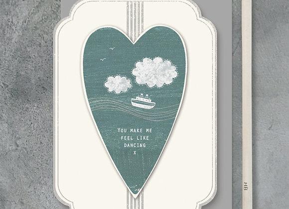 East Of India Heart You Make Me Feel Like Dancing Card