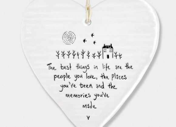 East Of India Porcelain Heart The Best Things In Life