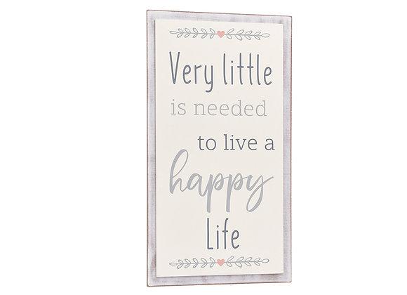 Happy Life Plaque