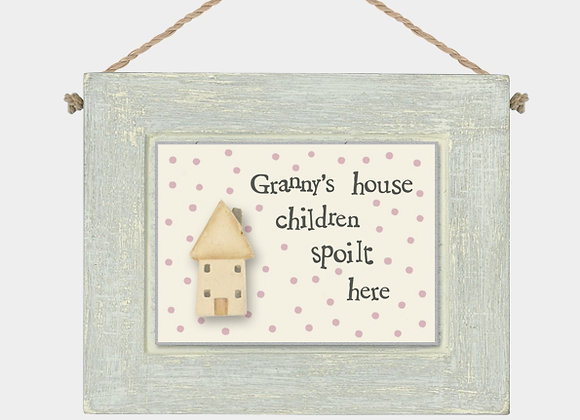 East Of India Granny's House Plaque