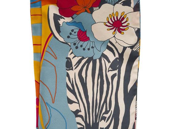 Powder Neck Scarf Floral Zebra