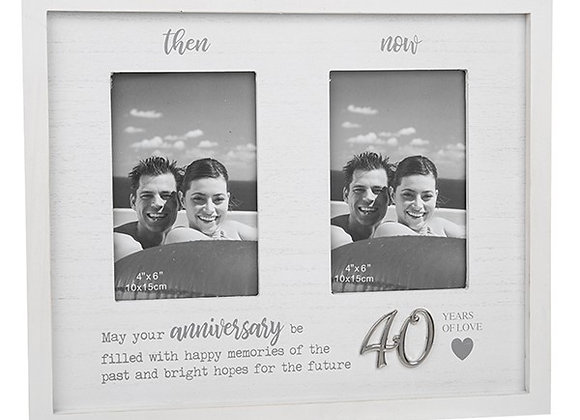 Then and Now 40th Anniversary Frame