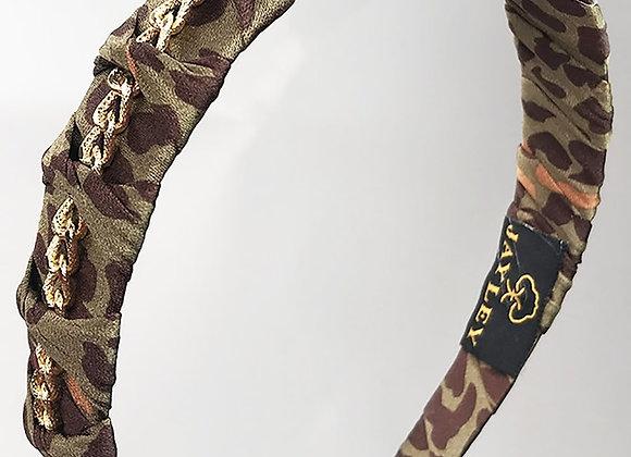 Jayley Khaki Leopard Print Hairband