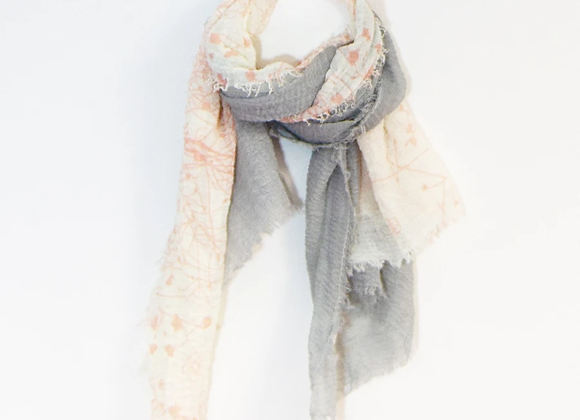Summery Two Tone Scarf Pink And Grey