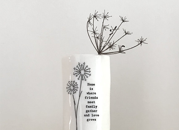 East Of India Small Vase Home Where Friends Meet