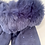 Thumbnail: Navy Faux Suede Gloves With Faux Fur Trim