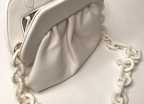 Charlotte White Leather Handbag