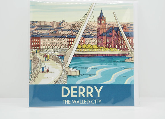 Derry The Walled City Greetings Card