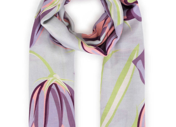 Powder Scarf Bluebell Print