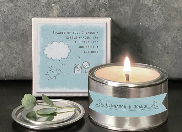 East Of India Boxed Candle Because Of You