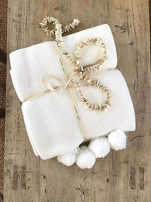 כרבולית זוגית פונפונים לבן