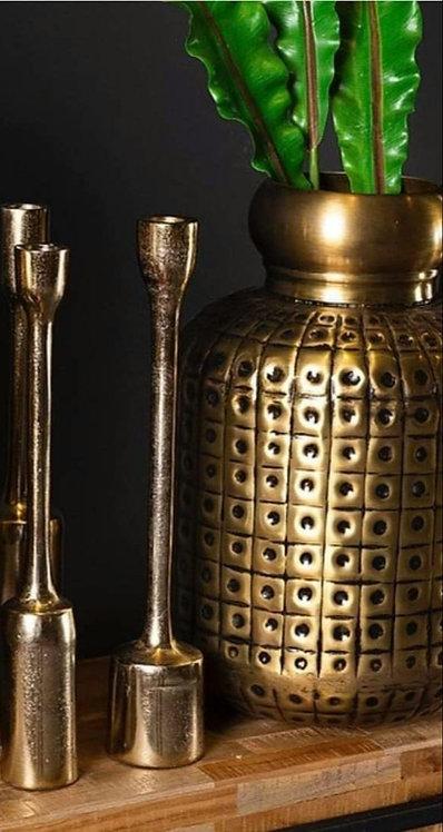 אגרטל אלומיניום בגימור בראס זהב