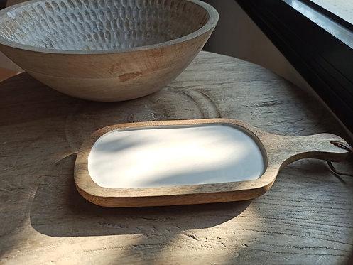 מגש גבינות מעץ מנגו