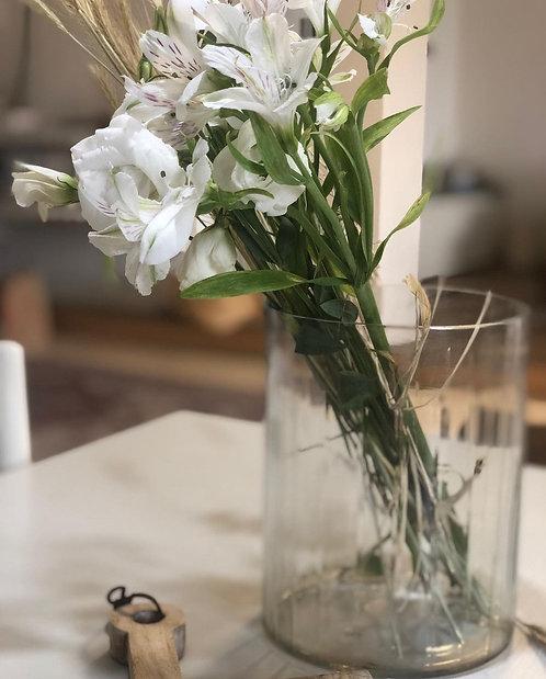 אגרטל זכוכית מעוטר בינוני