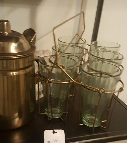 מתקן כוסות מרקט זהב