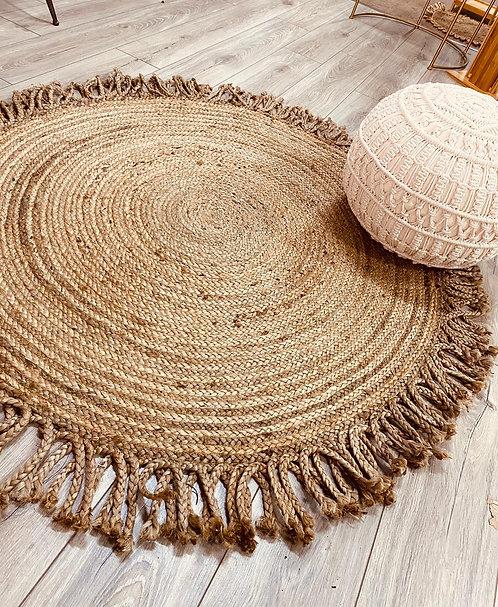 שטיח חבל עיטור צמות קוטר 120