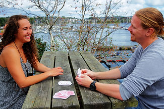 Playing cards conversation