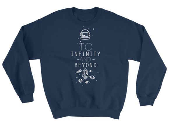 Our Ohana Tees | Infinity Crewneck Sweater: Navy