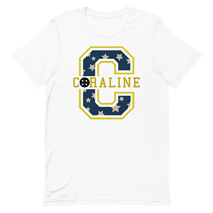 Coraline Varsity Tees (Pick Your Color)