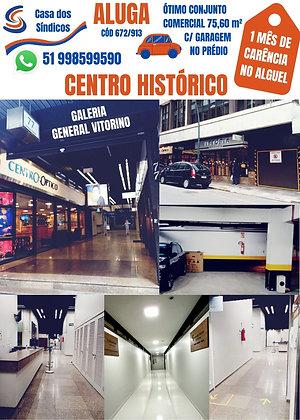 672-913 RUA GEN. VITORINO Nº 77 CONJ.1103 COM GARAGEM NO PRÉDIO